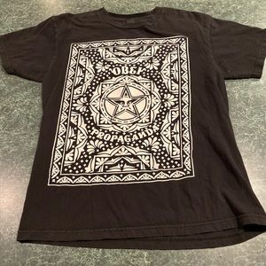 OBEY Propaganda Black Tee Size Medium
